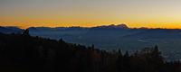 Sonnenuntergang im Rheintal
