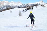 Skifahren in den Alpen