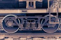 Pair of train wheels.