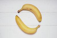 two bananas forming circle shape