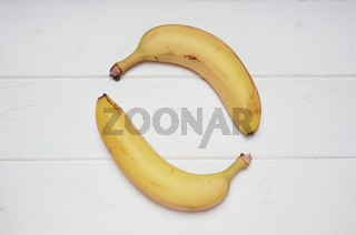 two bananas forming circle shape