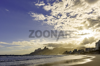 Ipanema beach buildings and horizon