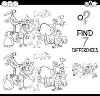 spot the difference with birds coloring book