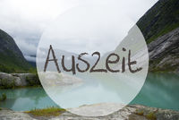 Lake With Mountains, Norway, Auszeit Means Downtime
