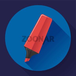 Marker icon. Highlighter symbol. Flat Vector illustration