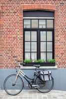 Vintage bike with bag