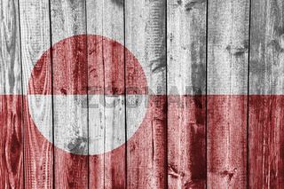 Fahne von Grönland auf Textur - Textured flag of Greece d
