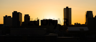 Sunrise Buildings Downtown City Skyline Knoxville Tennessee United States