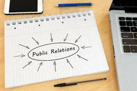 Public Relations text concept