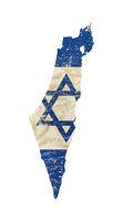 Old grunge vintage faded flag of Israel