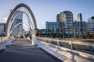 Seafarers Footbridge in Melbourne, Victoria, Australia.