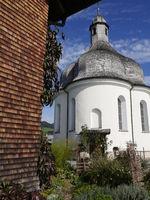 Sankt Anna Kapelle(aus heimischem Kalktuff gebaut),Lingenau,Bregenzer Wald,Vorarlberg,Österreich