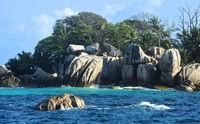 Granitfelsen auf Coco Island