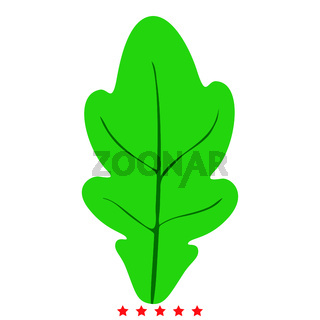 Oak leaf icon Illustration color fill style