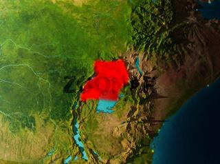 Orbit view of Uganda