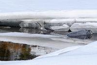 gefroren auf dem Wasser Eis