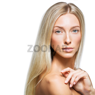 Beautiful blonde girl with natural make-up