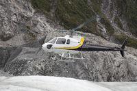 Helicopter landing on Franz Josef Glacier