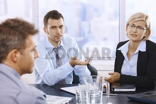 Professionals at discussion