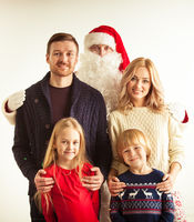 Family and Santa Claus