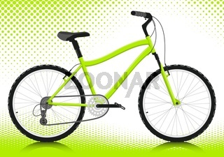Bicycle on a white background. Vector.