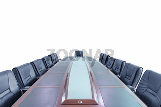 conference table and chairs isolated