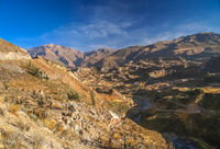 View of the deep Canyon Colca in Peru