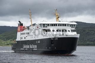 Das Fährschiff Finlaggan, Fähre zwischen Schottland und der Insel Isle of Islay