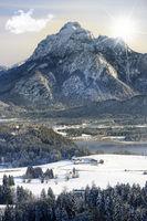 Berg Säuling bei Füssen im Allgäu in Bayern