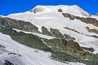 Gipfel Alphubel, Saas-Fee, Wallis, Schweiz