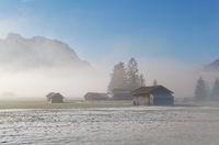 Bavarian farmland in winter