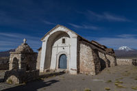Small church in Sajama, Bolivia