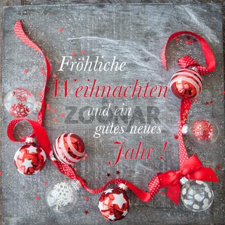 Froehliche bunte Weihnachtsdeko