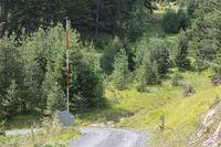 Open road barrier