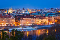Evening view of Prague