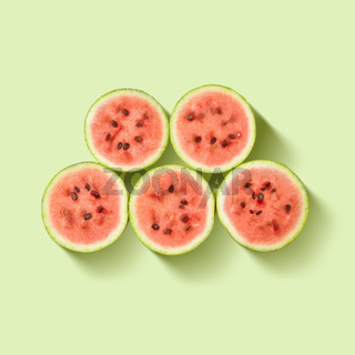 Background of watermelon slices