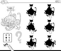 cats shadows educational game color book