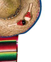 Cinco de Mayo festival background on white