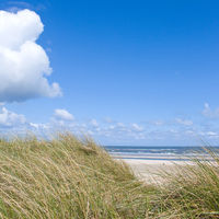 Idyllischer Tag an der Nordsee im Sommer
