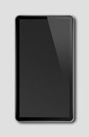 Black smartphone, digital tablet pc template isolated on dark grey