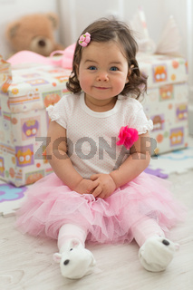 Cute baby girl 1 year