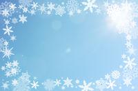 Rahmen mit Schnee zu Weihnachten