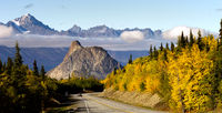 Chugach Mountains Matanuska River Valley Alaska Highway United States