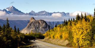 Chugach Mountains Matanuska River Valley Alaska Highway United States