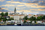 Belgrade cityscape on Danube