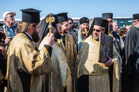 Worship are Orthodox priests