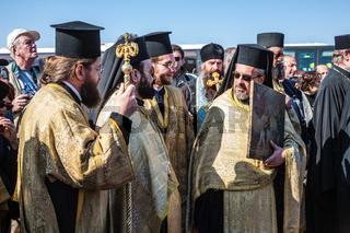 Worship are Orthodox priests