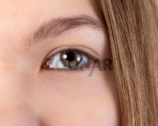 eye of a young girl