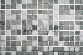 Old gray tile wall