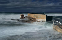 Newcastle Ocean Baths underwater in large swell
